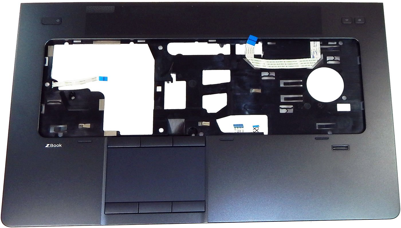 HP Zbook 17 Pwr Button FB FP TP Palmrest 729BST32101 AP0TK000200 by HP