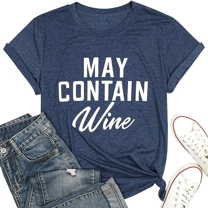 MAY CONTAIN VODKA Ladies T-Shirt 8-16 Funny Printed Alcohol Joke
