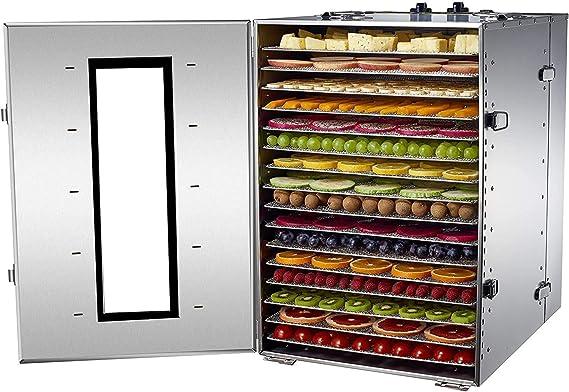 Commercial 5//8 Tray Stainless Steel Food Dehydrator Fruit Meat Jerky Dryer US
