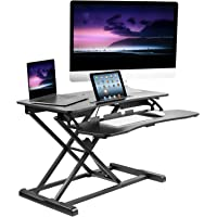 Mount-It! Adjustable Standing Desk Converter with Keyboard Tray, Ergonomic Tabletop Sit Stand Worksation 31.5 Wide for…
