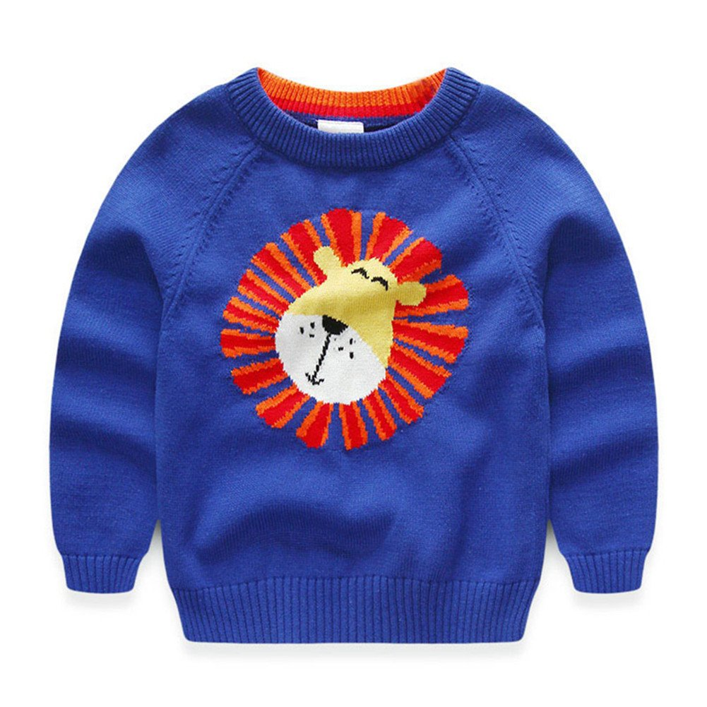 Mud Kingdom Boy's Smile Lion Sweater Pullover Christmas Clothing SS0263