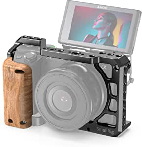 SMALLRIG Cage Kit with Wooden Handle Hand Grip for Sony A6400 Camera - KCCS2705