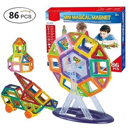 50-70% de réduction premier taux le magasin Bello Luna 86 Pcs Magnétique Blocs de Construction Jouets ...
