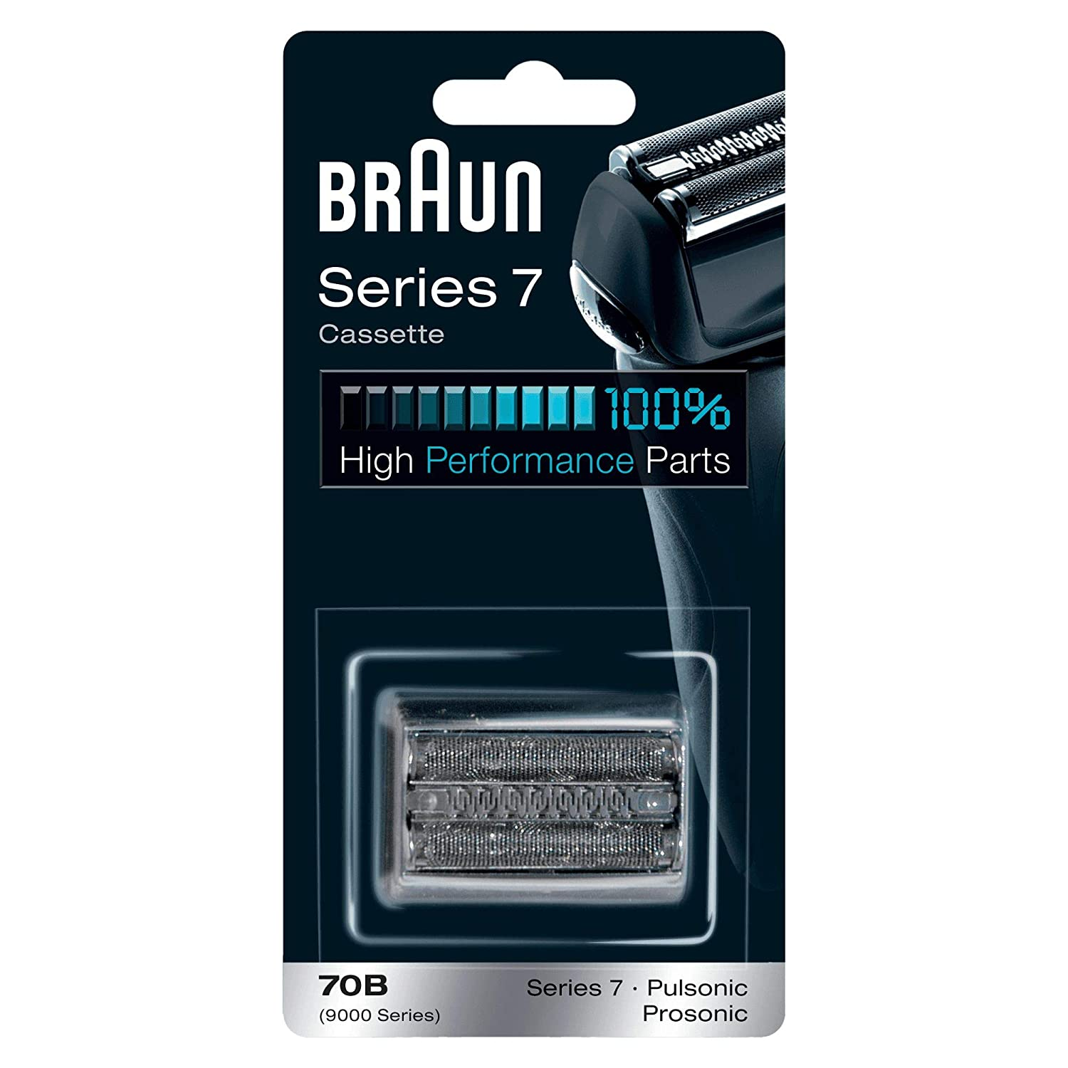 Braun Replacement Shaver 70 B Black, Compatible with Series 7 Razors