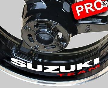 8 Sticker Motorrad Suzuki Team Aufkleber Bike Motorrad Felge