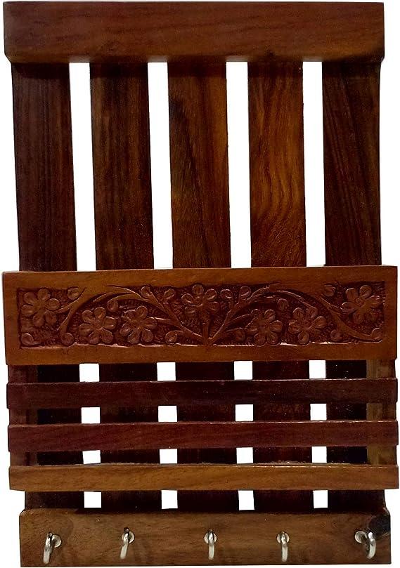Porta-llaves cum con incrustaciones, Porta-cartas hecho a mano, Llavero artesanal: Amazon.es: Oficina y papelería
