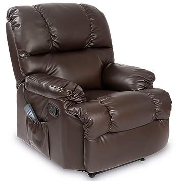 Cecotec - Sillón de Relax Masaje, Función Calor, 10 programas, 10 intensidades,