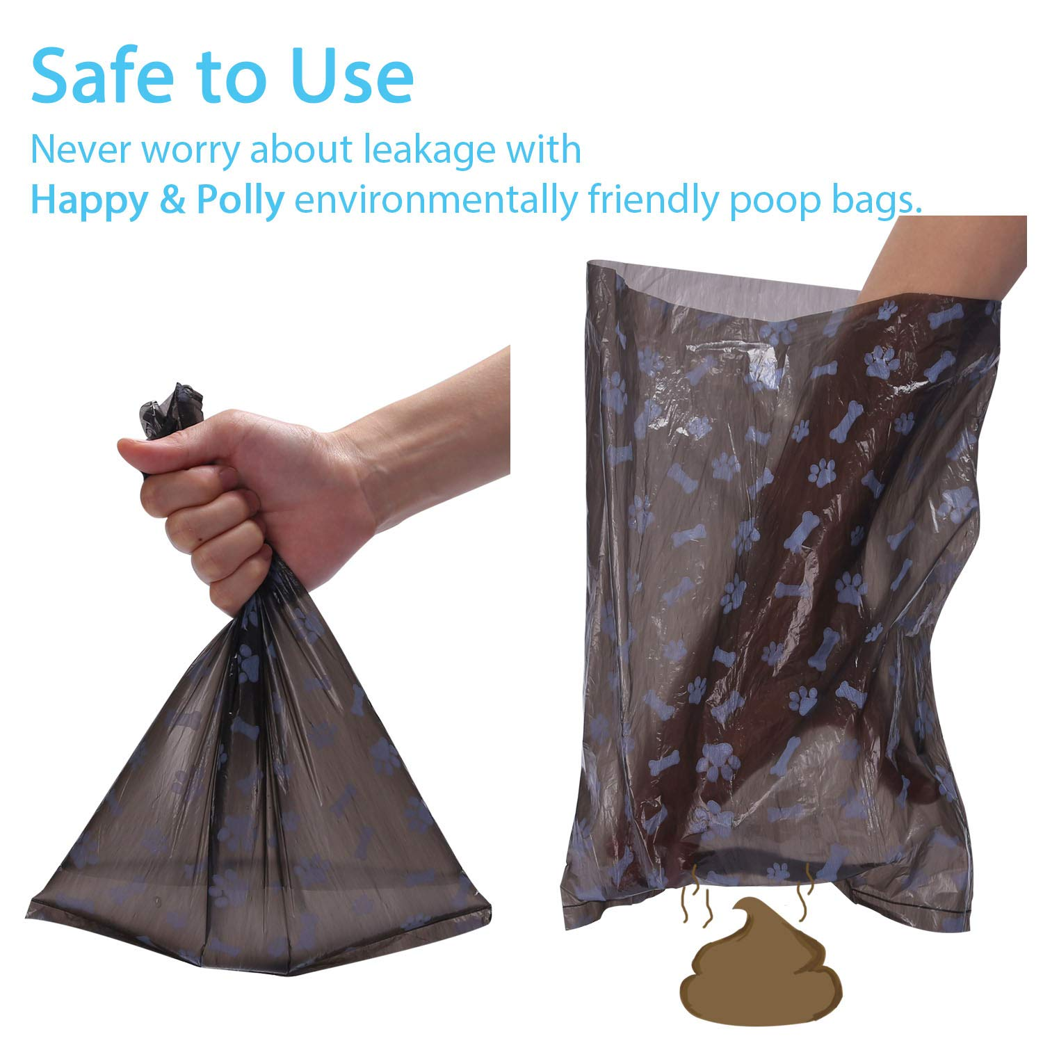 Amazon.com: Happy & Polly - Bolsas de caca biodegradables + ...