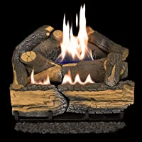 Cedar Ridge Hearth Recon 18-in 30,000-BTU Dual-Burner Vent-Free Gas Fireplace Logs with Thermostat