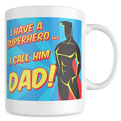305c9657 Amazon.com: Christmas Gifts For Dad From Daughter - Dad Mug - Gifts For Dad  - Best Dad Gifts - Fathers Day Gifts - Dad Coffee Mug - Super Hero Dad Mug:  ...
