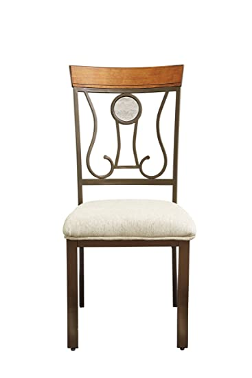Amazoncom Ashley Furniture Signature Design Hopstand Dining - Dining room side chairs