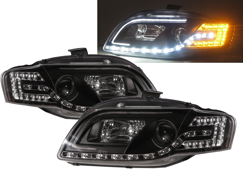 CrazyTheGod A4 S4 RS4 A4//S4// B7 8E//8H Third generation 2005-2009 Convertible//Sedan//Wagon 2D//4D 5D Projector R8Look Headlight Headlamp Black V1 RHD