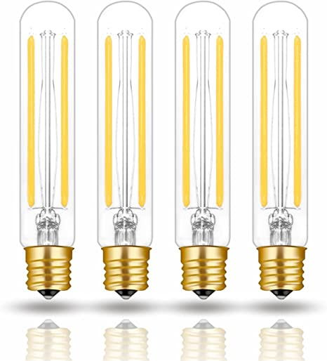 4W T6.5 E17 LED Warm White Filament Bulb 40W Incandescent Equivalent for Freezer