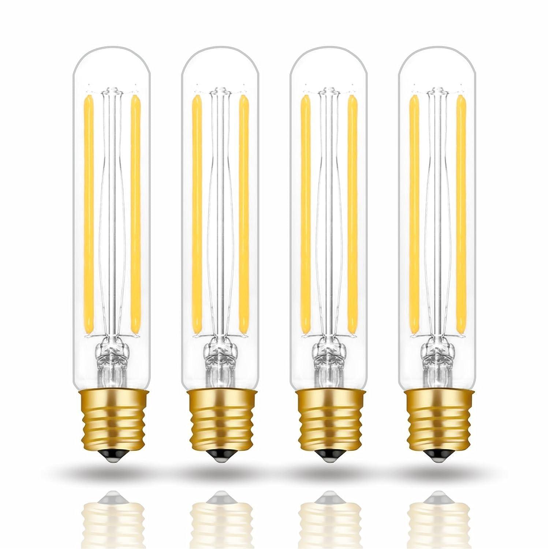 Hizashi 4W LED T6.5 Tubular Filament Bulb E17 Intermediate Base Dimmable 4.7