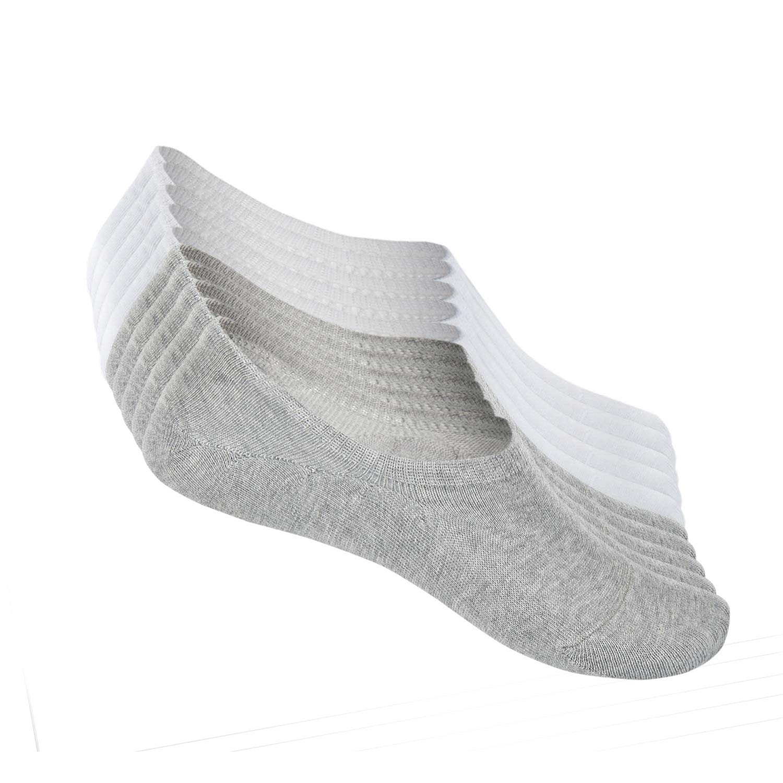 FALARY Calcetines Mujer Hombre 10 Pares Cortos Calcetines Invisibles tobillero Algodon Silicona Antideslizante Verano product image