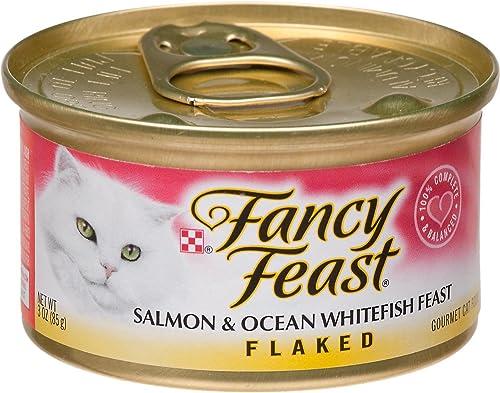 Fancy Feast Flaked Salmon Ocean Whitefish Feast Gourmet Cat Food