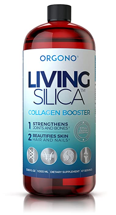 Living Silica, Collagen Booster for Bones Joints Muscles Hair Nails and Skin Double Strength (1000)