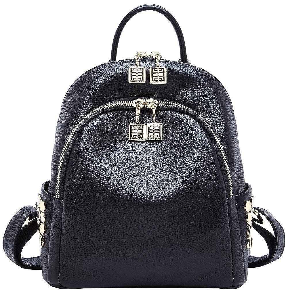 1277f3468118 BOYATU Genuine Leather Backpack for Women Designer Mini Backpack Purse  Stylish Bag