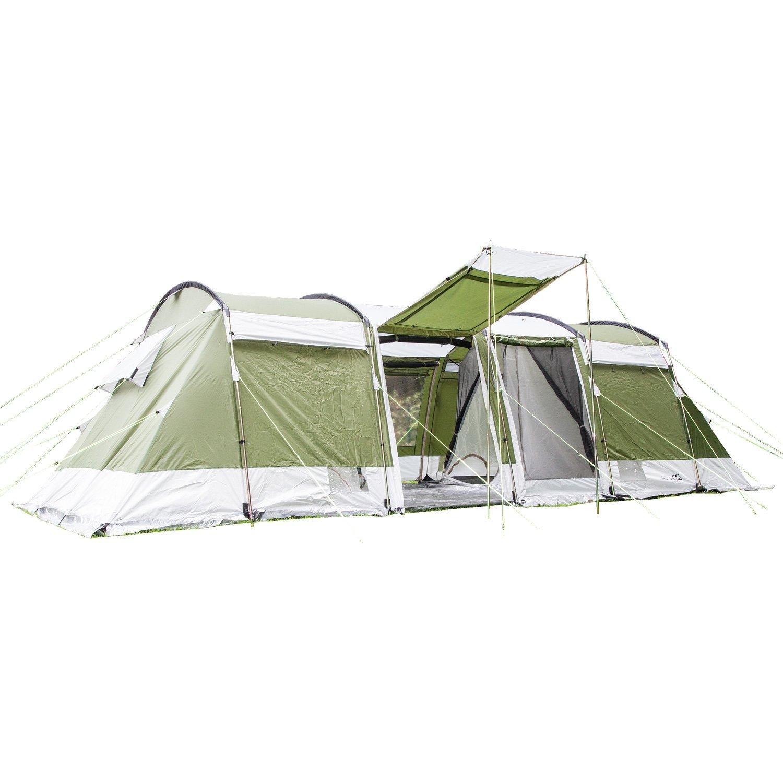 Skandika Montana 8-Personen Familienzelt, 2 trennbare Schlafkabinen, 5000mm Wassersäule, 200cm Stehhöhe