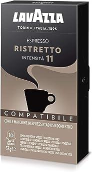 Cápsulas de Café Espresso Ristretto Lavazza, Compatível com Nespresso, Contém 10 Cápsulas