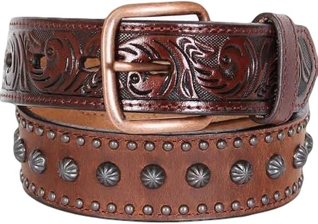 3-D Belt Company Accessories Boys 3 D Belt Company Studded Belt 28 Brown