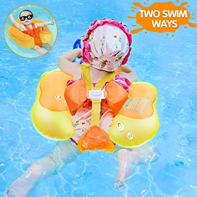 iGeeKid Baby Float [Upgraded Version] Baby Swimming Float with Safety Seat Crotch Strap and Adjustable Waist Strap Swim Trainer for Toddler Infant for The Age of 3-30 Month (Fit 3-10Months-11-24lbs): Toys & Games