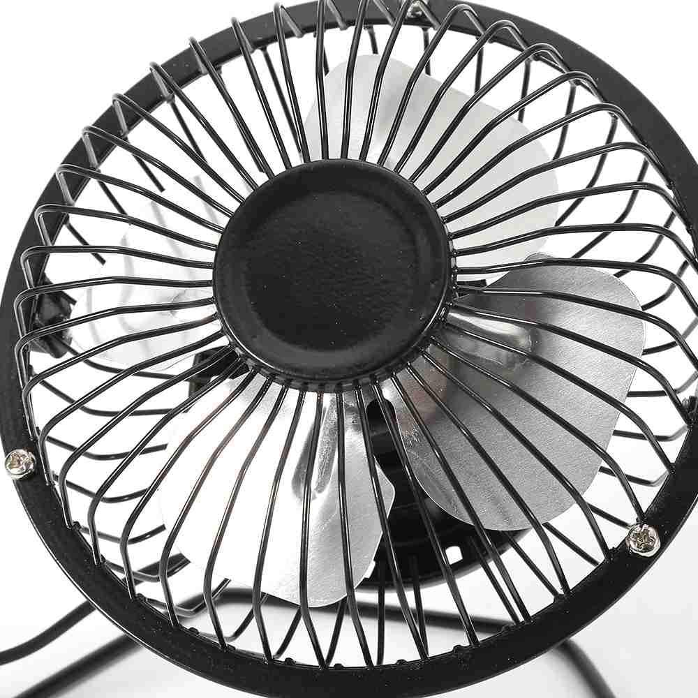 Mini USB Portable Powered Desktop Cooling Desk Fan Computer Laptop Metal 4 inch