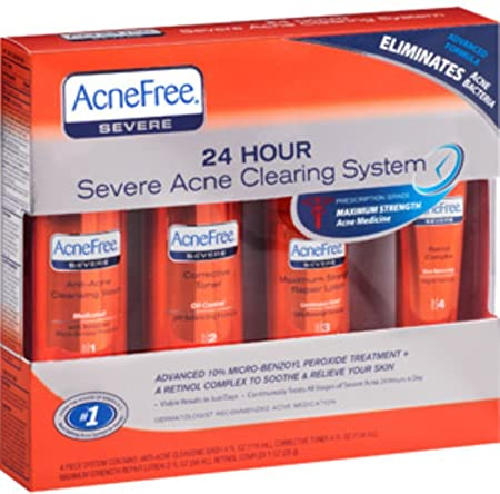 AcneFree 24 Hour Severe Acne Clearing System 1 kit Pack of 2