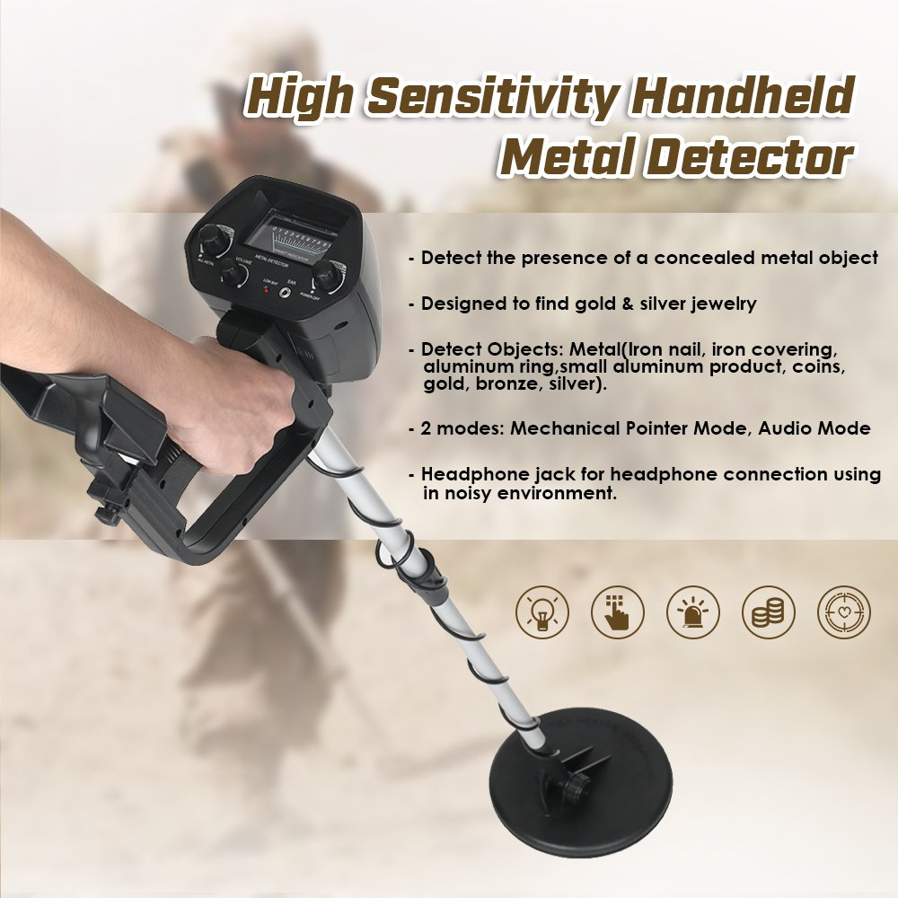 Amazon.com : Murri Gear Professional MD-4030 Metal Detector Adjustable Gold Detectors for Treasure Hunter : Garden & Outdoor
