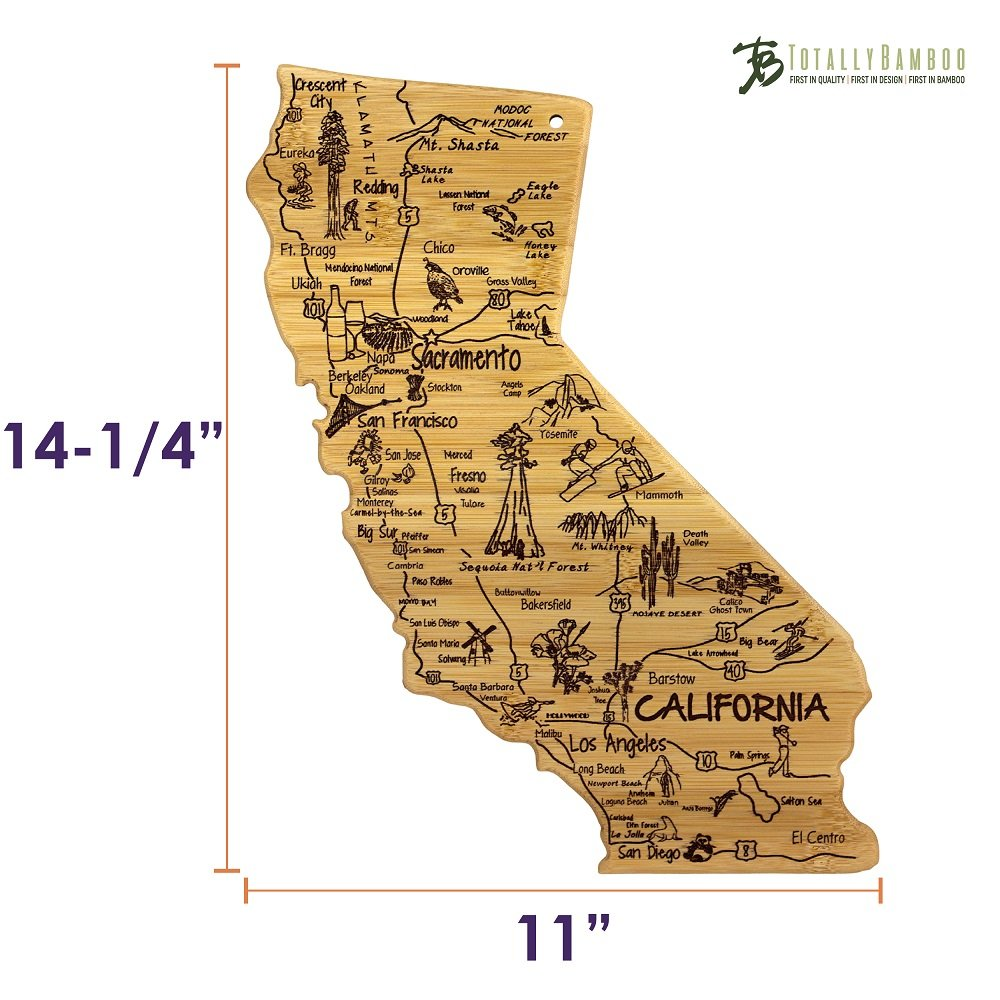 Totally Bamboo California State Destination Bamboo Serving and Cutting Board by Totally Bamboo (Image #6)