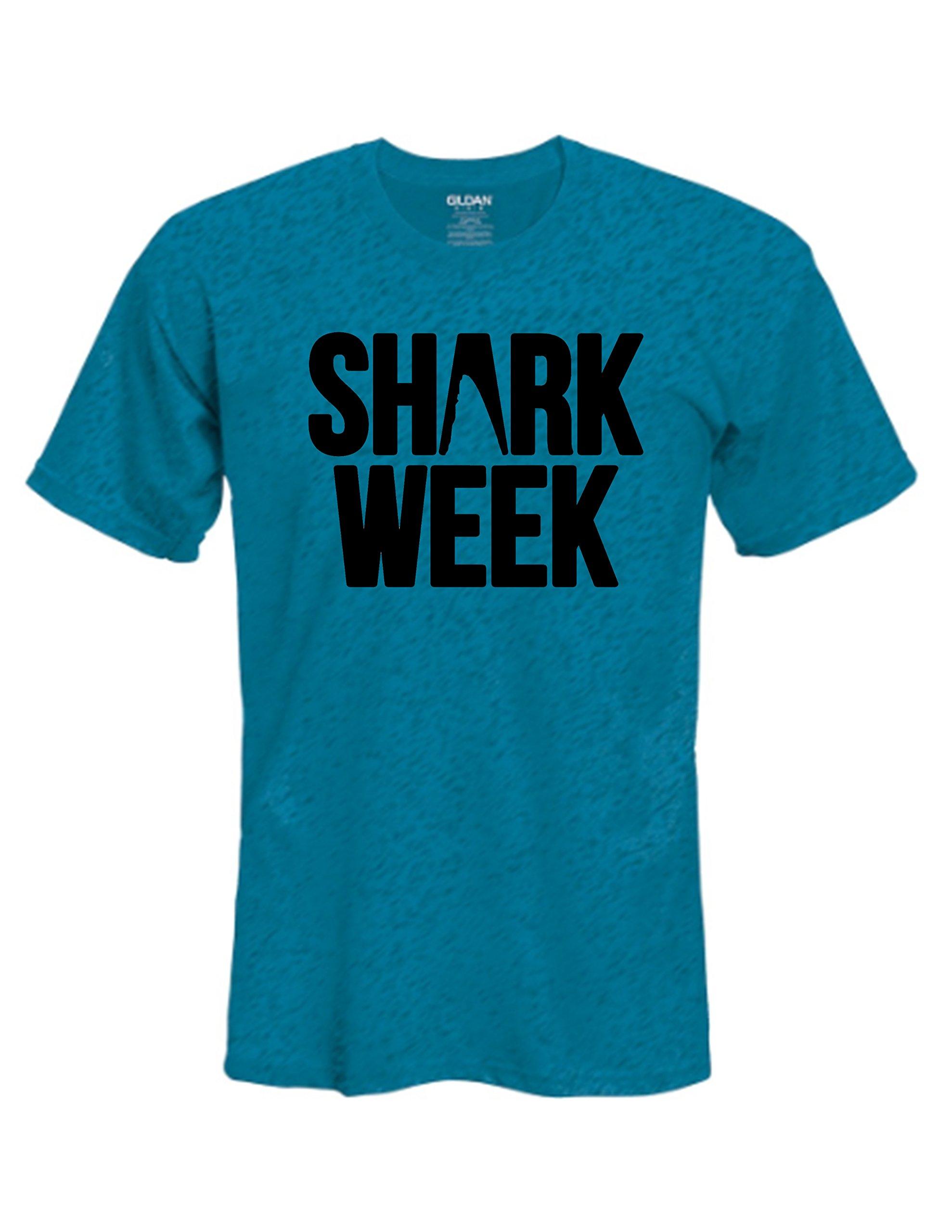 Shark Week Mens/Womens T-Shirt - Pick T-Shirt Color, Size and Design Color