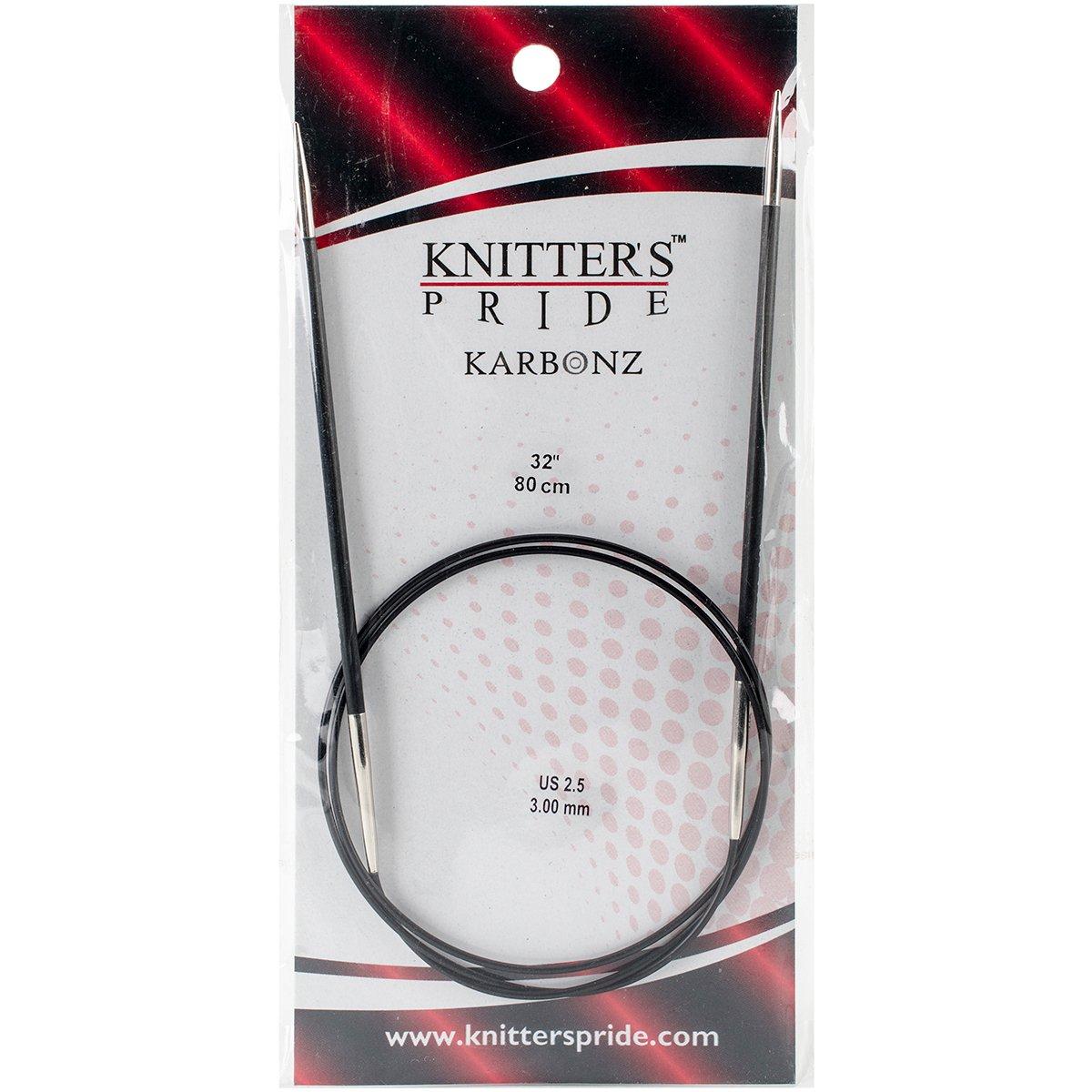 Knitting Needles; Size US 5 110228 Knitters Pride Karbonz Circular 32-inch 80cm 3.75mm