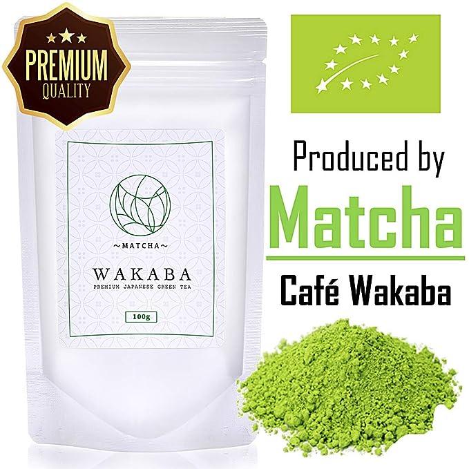 Polvo de matcha orgánico prémium de 100 g - Producido por Matcha Café Wakaba - Auténtico