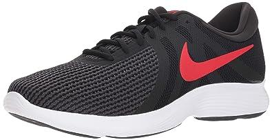 half off a09bf bee87 Nike Mens Revolution 4 Running Shoe BlackUniversity red - Oil Grey 7  Regular US