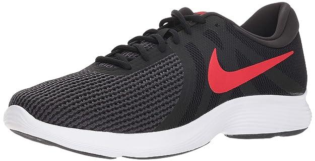 Nike Men's Revolution 4 Running Shoe, Black/University red - Oil Grey, 6 Regular US