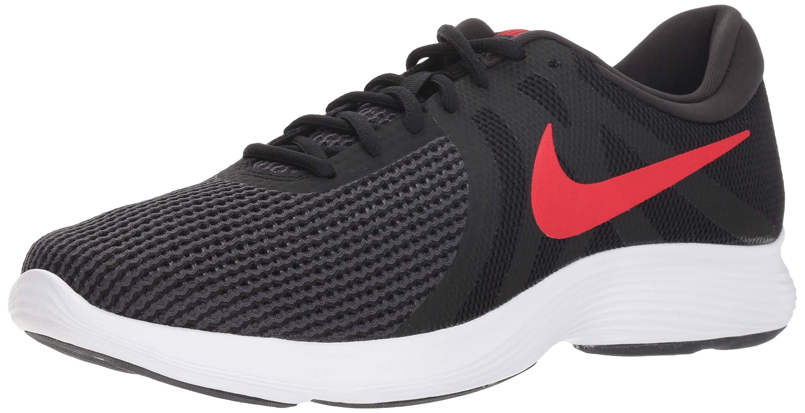 655447e2f99 Galleon - Nike Men s Revolution 4 Running Shoe Black University Red - Oil  Grey 10.5 Regular US