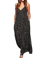 ZANZEA Women Strappy Dress Polka Dot V Neck Boho Long Maxi Beach Party Sundress