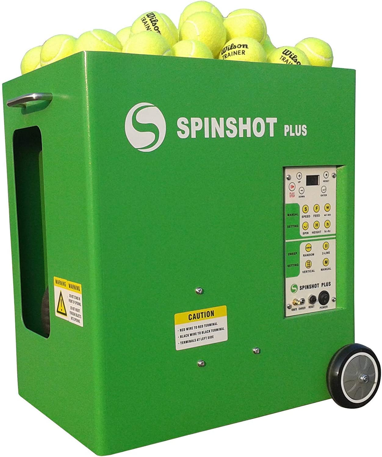 Spinshot Plus Tennis Ball Machine (Best Model for an Intermediate Player) : Sports & Outdoors