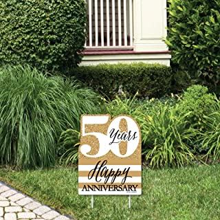 product image for Big Dot of Happiness We Still Do - 50th Wedding Anniversary - Outdoor Lawn Sign - Anniversary Party Yard Sign - 1 Piece