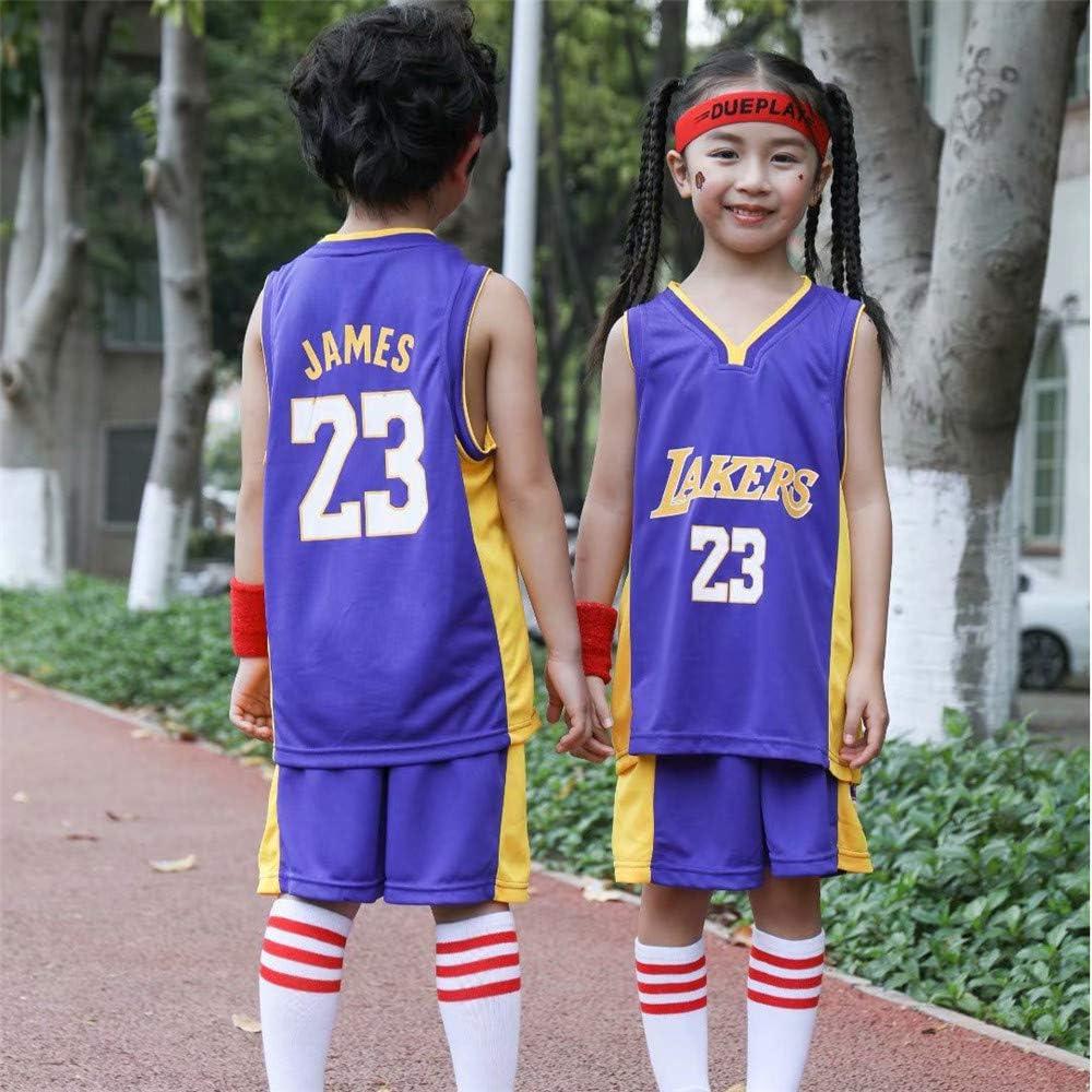 Shorts NBA Lakers Daoseng Lebron James #23 Camiseta de Baloncesto para Hombres para ni/ños Adultos y Adolescentes Top sin Mangas