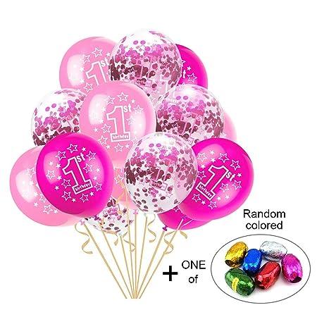TREESTAR balón de cumpleaños de 1 AN Globos látex Bautizo bebé ...