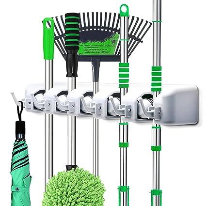 Amazon Com Letmy Broom Holder Wall Mounted Mop And Broom Hanger
