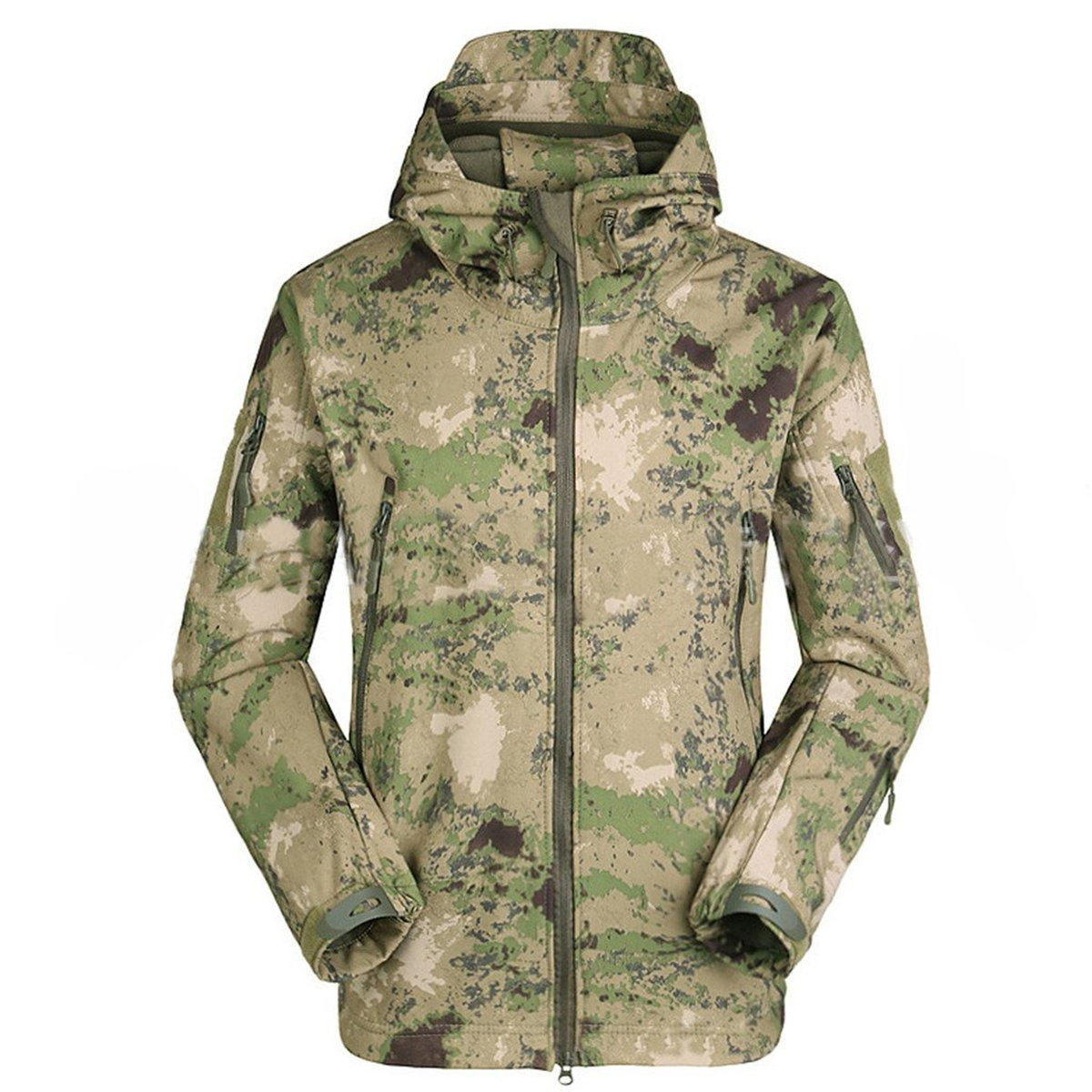 Eglemall Men's Outdoor Hunting Soft Shell Waterproof Tactical Fleece Jackets (XXX-Large, Ruins green) by Eglemall