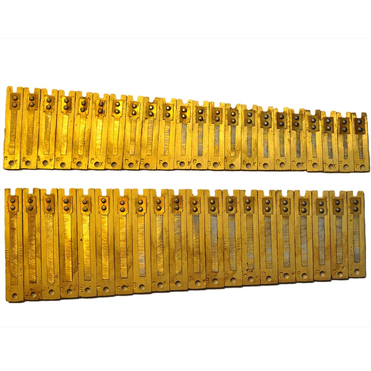 Harmonium Reeds - 3.5 Octave Male Set for Delhi harmoniums