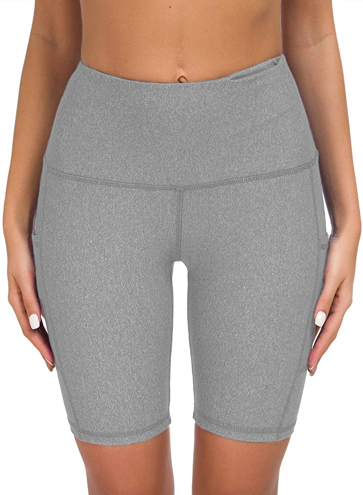 Custers Night High Waist Out Pocket Yoga Pants Tummy Control Workout Running 4 Way Stretch Capris Leggings