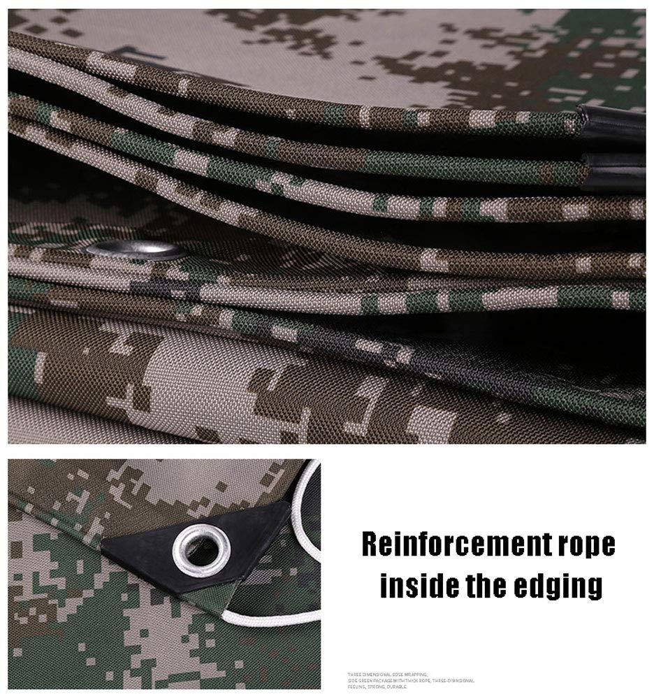 Lona de camuflaje resistente, 4 para x 3 m camuflaje Tarps, conveniente para 4 la jardinería impermeable Pesca de la hamaca Rain Fly Tent Tarp Footprint Shelter paño de tierra, opciones de tallas múltiples, color a8ed37