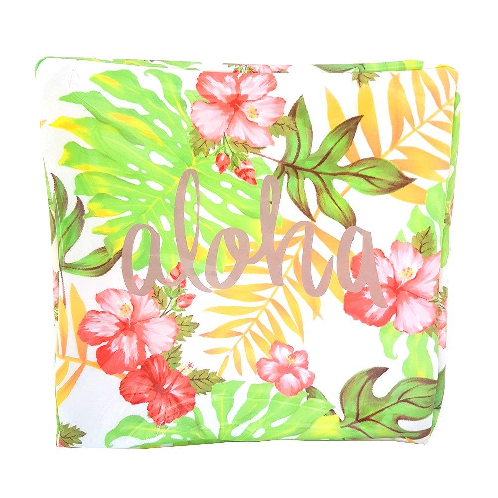 Transparent Cosmetic Pouch Waterproof Makeup Bag with Zipper, Aloha, Summer Bag