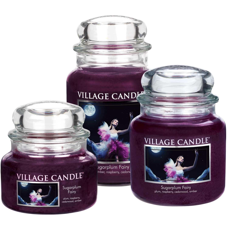 Village Candle Sugarplum Fairy Vaso di Vetro Medio Violet 9.8x9.5x12.4 cm