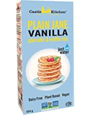 Castle Kitchen Plain Jane Vanilla Pancake & Waffle Mix – Vegan, Plant Based, Dairy Free, Non-GMO Project Verified, Kosher, Complete Mix, Just Add Water – 454gr