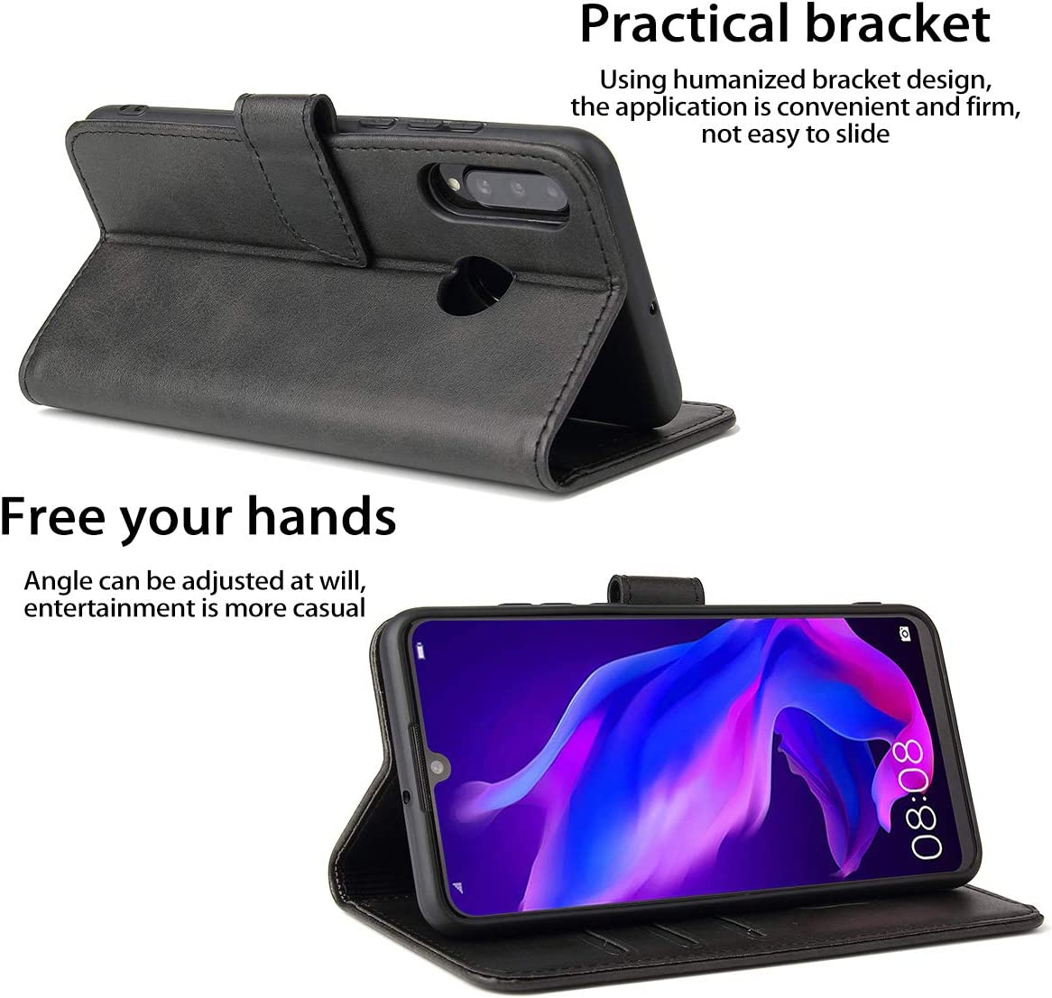Shockproof Protective Flip Case for Huawei P30 Lite Huawei P30 Lite Wallet Case with Card Holder//Slot for Scalette Leather Wallet Case Cover Blue Huawei P30 Lite Case Built-in Magnet Card Slot
